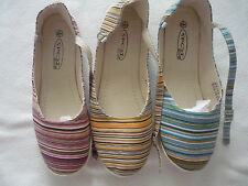 Ladies Canvas Pump Espadrills Shoes with Buckle Fastening 3 Colours 3 to 8