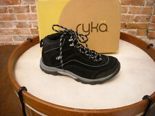 Ryka Black Suede Water Resistant 226977 Hiking Boot NEW