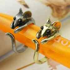 Cute Mouse Ring Vintage Adjustable Ring Antique Kitsch Retro UK Fashion