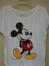 Disney White ( Mickey Standing Vintage Drawing ) Over-size T-shirt