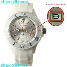 FW893C White Band White Watchcase Water Resist Men Women with date Fashion Watch