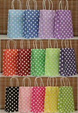 10Pcs 21*13*8cm New European Polka Dot Sweet Gift Shopping Party Paper Bags