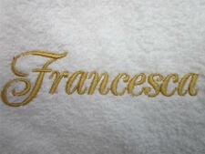 White Bath/Hand/Face Towels Embroidered with your choice of name