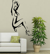 Sexy Naked Lady Silhouette Vinyl Art Decal & Wall Sticker. New! 30cm x 50cm