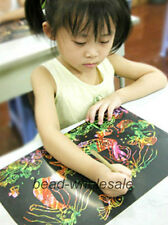 10Sheets 16K Colorful Scratch Art Magic Painting Paper With Drawing Stick,Hot
