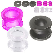 ear plugs piercing 3 pairs acrylic flesh tunnels gauges stretching kit set 9RGA