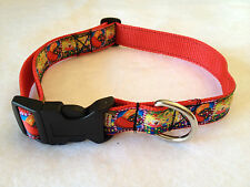 CANDY CRUSH SAGA DOG COLLAR TWO SIZES TO CHOOSE FROM