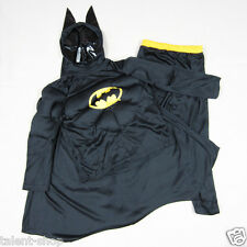 Halloween Party Muscle Grey Batman Fancy Dress Boys Girls Outfit Costume 2-7y