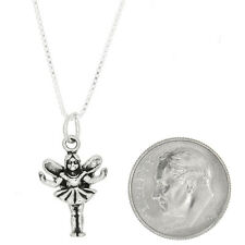 STERLING SILVER CLEVER TOOTH FAIRY CHARM WITH BOX CHAIN NECKLACE