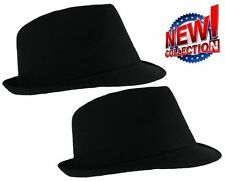 Classic Black Lightweight Cotton Trilby Hat 3 sizes. fast post 1st class