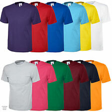 Classic Short Sleeve T Shirt 100% Cotton - Work Casual Leisure Sport Training