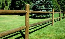 Round Rail Wood Fence 2 and 3 rail Pressure Treated Southern Yellow Pine