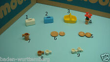 Playmobil vacation victorian plates basket flowers cups suitcase basket toy 124