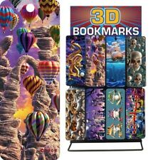 18 Stunning 3D BOOKMARKS Various Designs Sail Cat Dragon Dolphins Guitar Sax