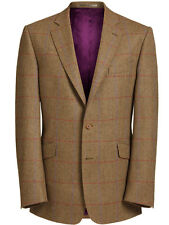 Magee Men's Jacket – Brown with Purple & Red Check 50973 Nice