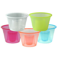 100 Plastic Power Party Jager Bomber Shot Cup Glass Shooters Color Bomb Cups