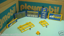Playmobil 3186 airport series rail sign security system X toy diorama 120