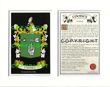 COONEY Family Coat of Arms Crest + History - Available Mounted or Framed