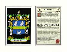 HARTNETT Family Coat of Arms Crest + History - Available Mounted or Framed