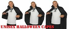 Black Cape Vampire Capes With Collar Male & Female Halloween Fancy Dress