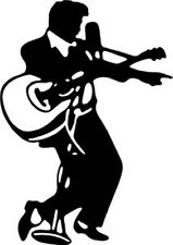 Elvis The King T28 Vinyl Window Decal  Free Shipping
