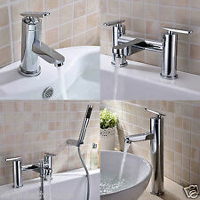 LUNAR BATHROOM SINK BASIN MONO MIXER BATH FILLER SHOWER TAP CHROME SOLID BRASS