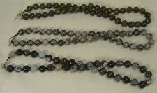 hand knot 10mm diameter agate bead necklace/ (w2)