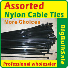 Assorted Nylon Cable Ties More Choices Assortment Black & Natural Available