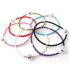 10pcs Leather Bracelet Cord Fit European Charm Beads Pendant 9 Size Jewelry