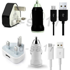 USB Mains Car Charger Plug SYNC Lead FOR AMAZON KINDLE FIRE PAPERWHITE WIFI 3G