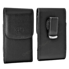 Leather Vertical Belt Clip Case Pouch Cover for Samsung Cell Phones ALL CARRIERS