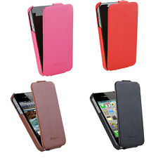Fashion Flip Genuine Leather Slim Case Protection Cover 4 Color for iPhone 4 4S