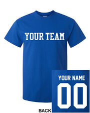CUSTOM T-Shirt  Personalized ANY COLOR Name Number Team Softball Footbal