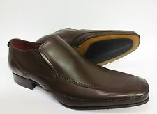 Loake design Mens Matthews Dark Brown Burnished Leather Shoes F-Fitting Sale **
