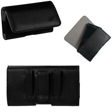 Large Slim Smart Phone Universal  Holster Case Belt Loop Clip
