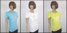 Adidas Ladies short sleeve Top in Blue/White/Yellow