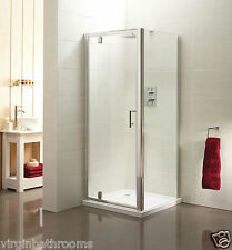 SHOWER ENCLOSURE PIVOT GLASS DOOR WALK IN CUBICLE SCREEN SIDE PANEL