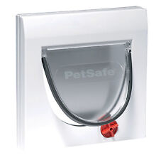 STAYWELL 919 4 WAY LOCKING CAT FLAP WITH TUNNEL EXTENSIONS FOR WALLS DOORS GLASS