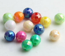 500/2000pcs Random Mixed Facet Round Spacer Beads 6mm (Lead-free)