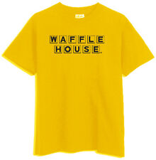 WAFFLE HOUSE T shirt Vintage logo FUNNY Cool COFFEE TEE Yellow Gold T-SHIRT