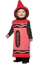 CRAYOLA CRAYON RED TUNIC HALLOWEEN COSTUME INFANT 18 - 24 MONTHS  NO HAT