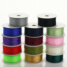 1.5 inch x 10 yards WIRED Sheer Organza RIBBON - Wedding FAVORS Invitations Bows