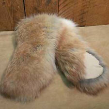 Beautiful Real Coyote Fur Mittens, Size  Small or Medium