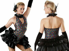 MAD HOUSE Ballet Tutu Dance Costume Inc Bustle,Neckpiece,Gloves,Feather CL & AXL