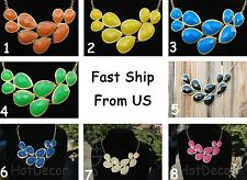 US Seller Statement teardrop bib fashion necklace for girls necklace for holiday