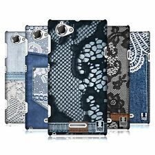 HEAD CASE DESIGNS JEANS AND LACE CASE COVER FOR SONY XPERIA L C2105