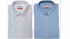 Mens Shirt MARVELIS Pure Cotton NON IRON Short Sleeve SLIM MODERN FIT