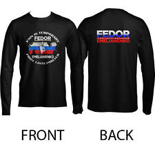 Fedor Emelianenko Last Emperor MMA Black Long Sleeve T-Shirt Size S to 3XL Hot