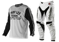 NEW TROY LEE DESIGNS GP WHITEOUT SUPER RETRO MX GEAR COMBO WHITE/WHITE ALL SIZES