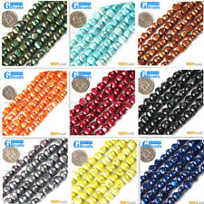 """7-8mm colorful freeform cultured pearl gemstone loose beads strand 15"""""""